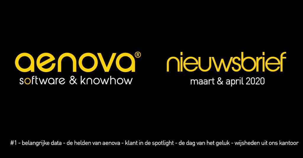 aenova nieuwsbrief 1 maart april software tijdschrijven werkgeluk